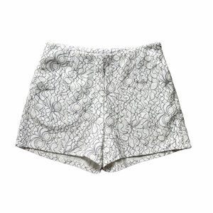 Lucy Paris White Lace High Waisted Shorts XS